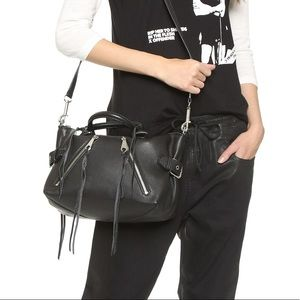 rebecca Minkoff Moto Satchel crossbody  in black